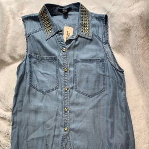 NWT XXI denim tank